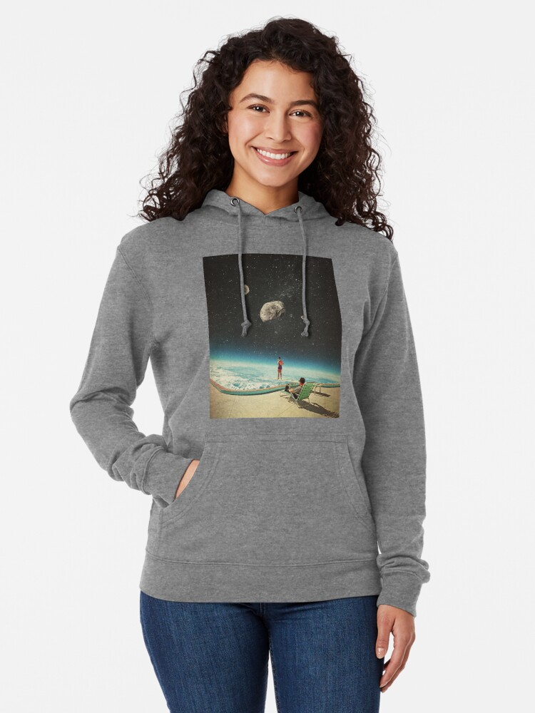Alternate view of Summer with a Chance of Asteroids Lightweight Hoodie