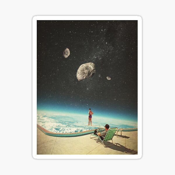 Summer with a Chance of Asteroids Sticker