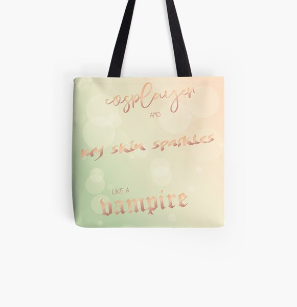 I'm a sparkling cosplayer All Over Print Tote Bag