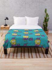 SpongeBob Traveling the World in Drag original Throw Blanket