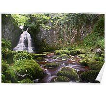 Wharfedale Waterfall Poster