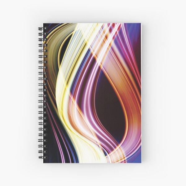 Light Sensation Abstract Spiral Notebook