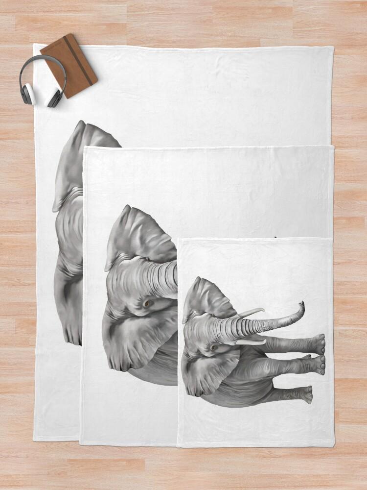 Alternate view of Large Elephant Throw Blanket