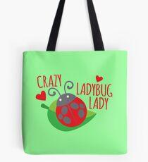 Crazy Ladybug LADY Tote Bag