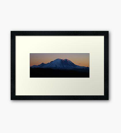 Summer Sunset on Rainier Framed Print