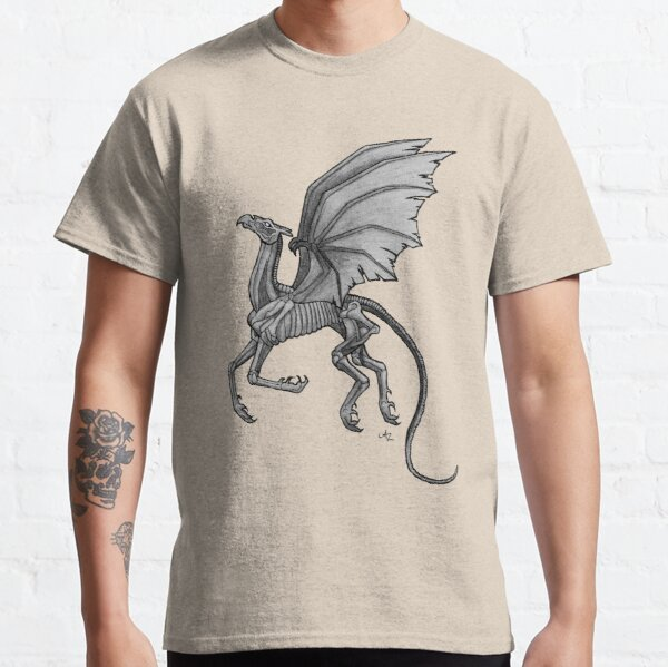 Thestral #2 with Gray Background Classic T-Shirt