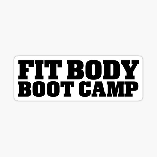 Fit Body Boot Camp Stacked Logo (Black) Sticker