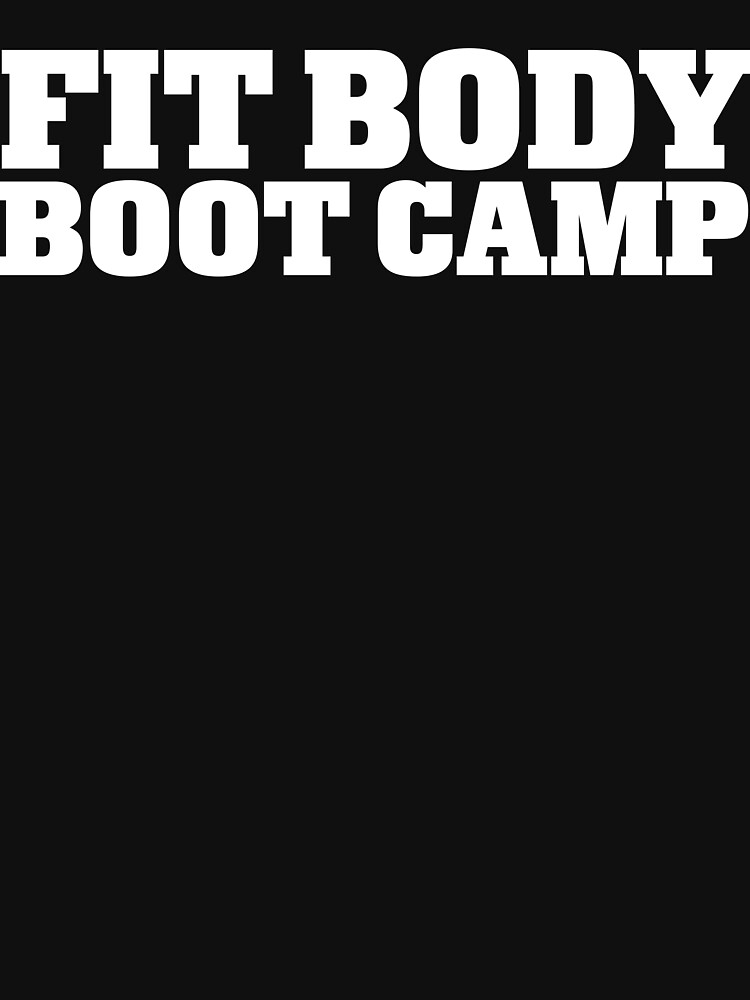 Fit Body Boot Camp Stacked Logo (White) by imadinosrawr
