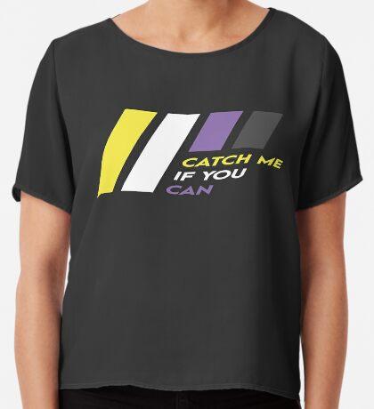 Pride Stripe: Catch Me If You Can Chiffon Top