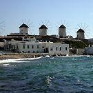 Mykonos: the windmills by bubblehex08