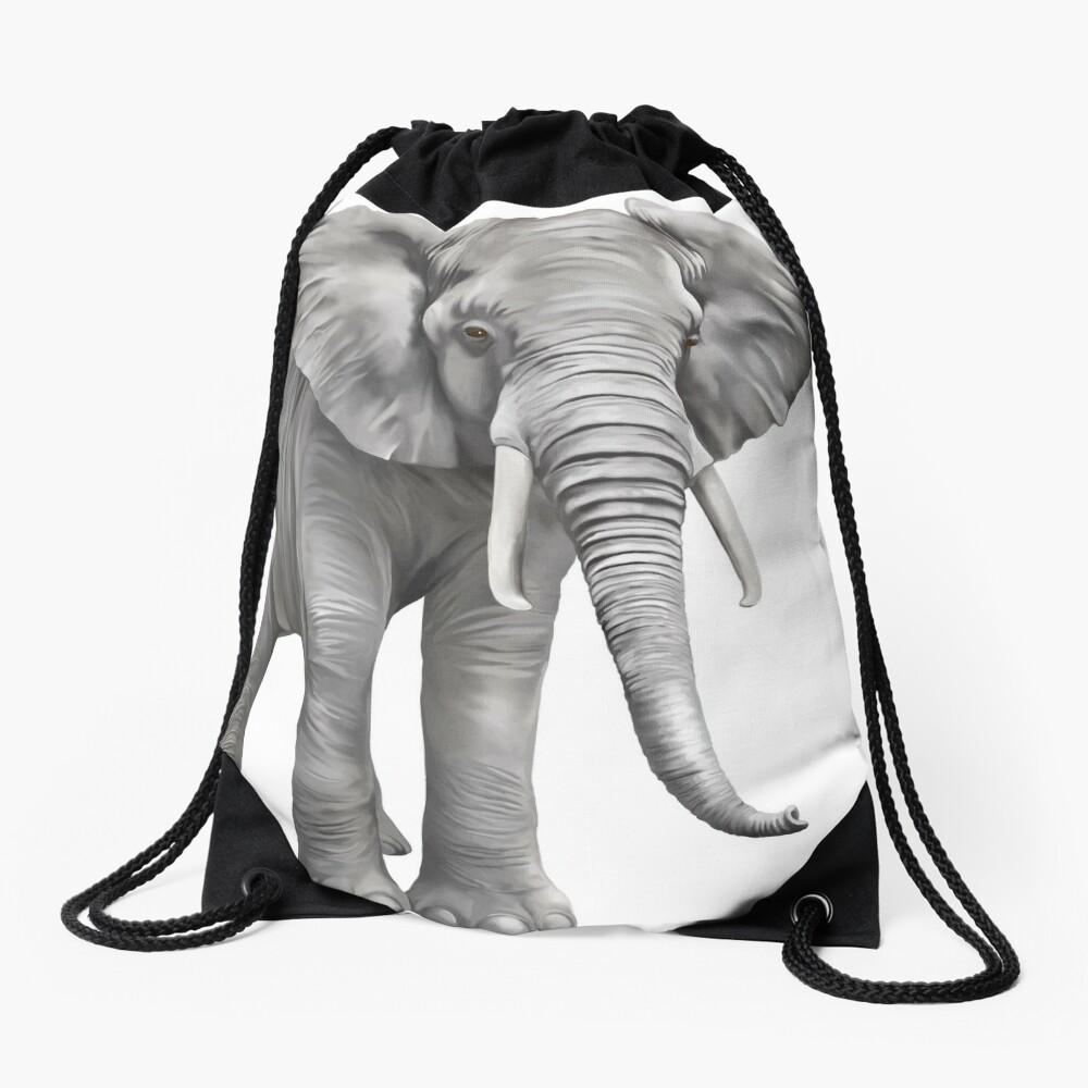 Large Elephant Drawstring Bag
