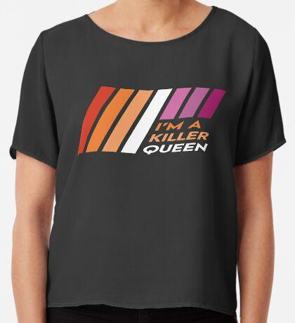 Pride Stripe: I'm a Killer Queen Chiffon Top
