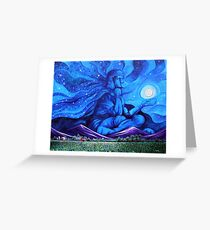 'Beneath the Cloak of Night (God Night)' Greeting Card