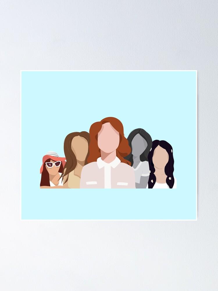 Lana Del Rey Albums Poster By Marxbrando Redbubble