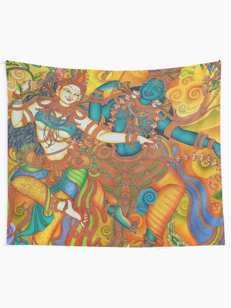 Alternate view of Kerala Mural Painting - Kathakali Tapestry