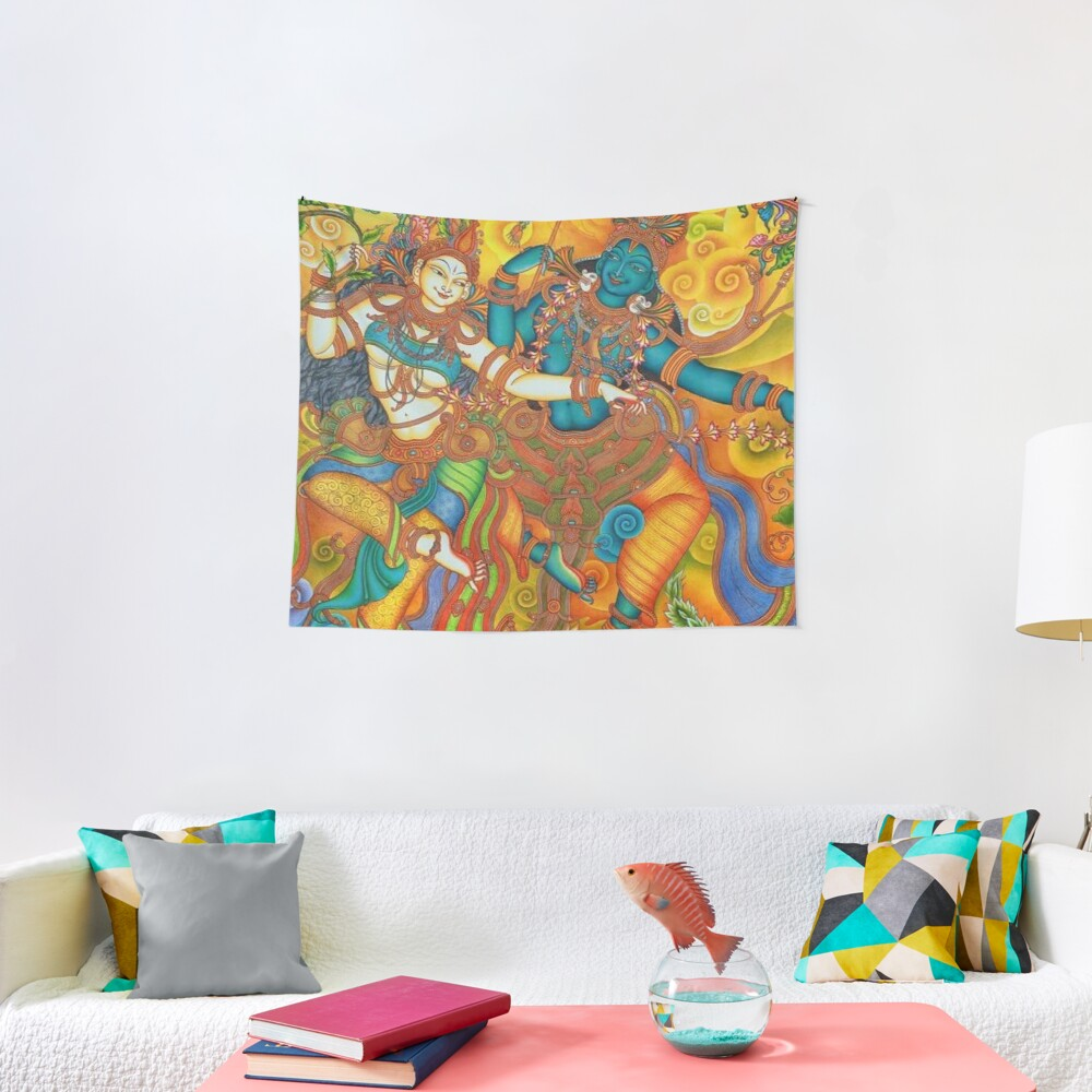 Kerala Mural Painting - Kathakali Tapestry