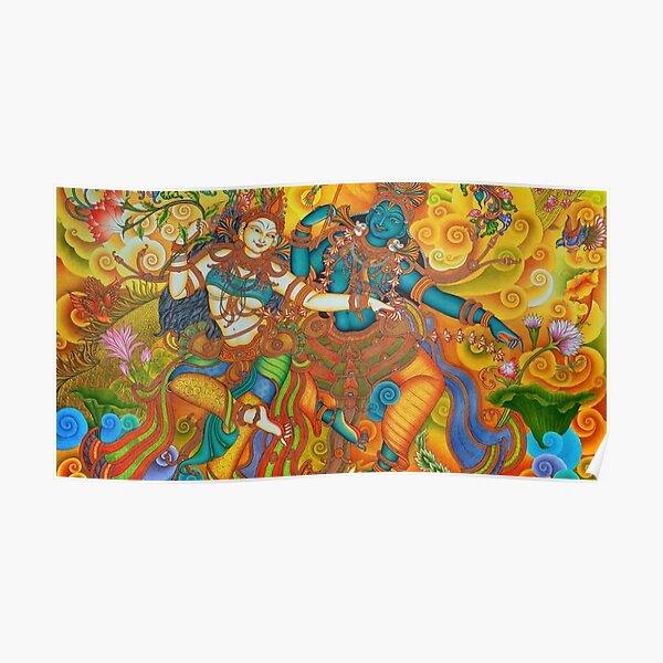 Kerala Mural Painting - Kathakali Poster