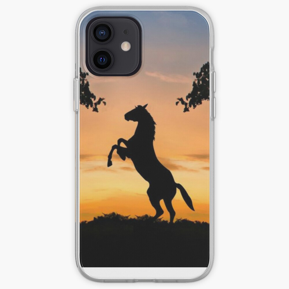 Horses sunset iPhone Case & Cover