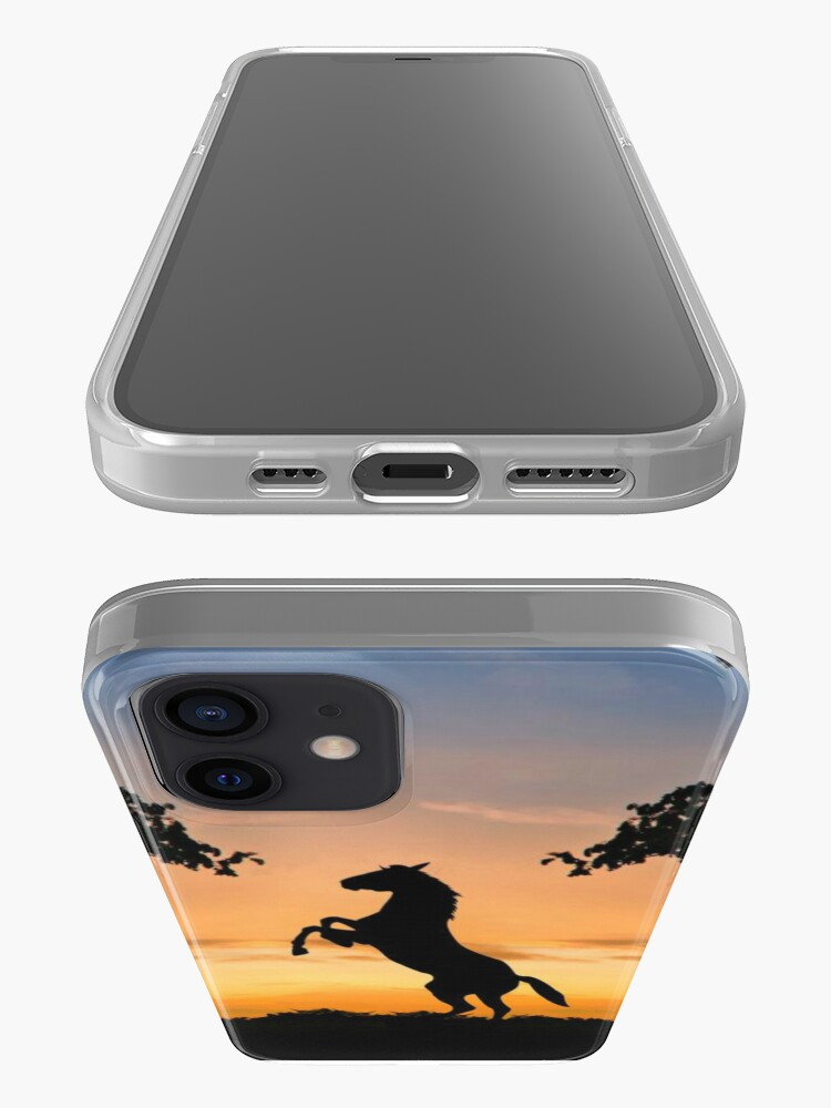 Alternate view of Horses sunset iPhone Case & Cover