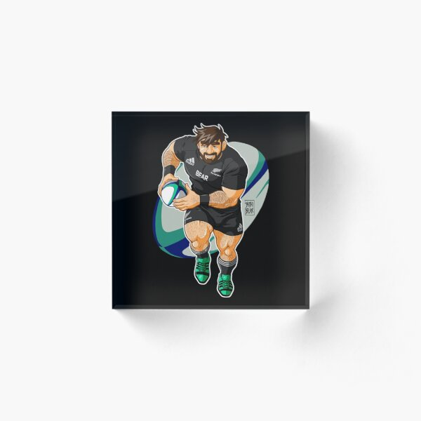 ADAM LIKES TO PLAY RUGBY - NEW ZEALAND Acrylic Block