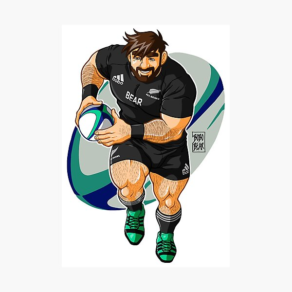 ADAM LIKES TO PLAY RUGBY - NEW ZEALAND Photographic Print