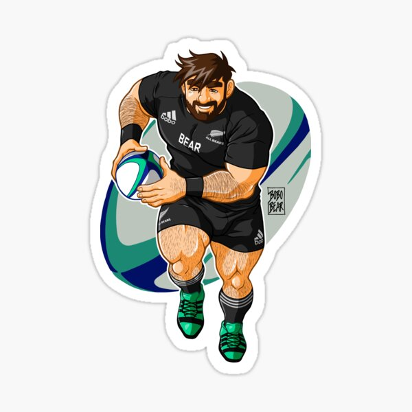 ADAM LIKES TO PLAY RUGBY - NEW ZEALAND Sticker