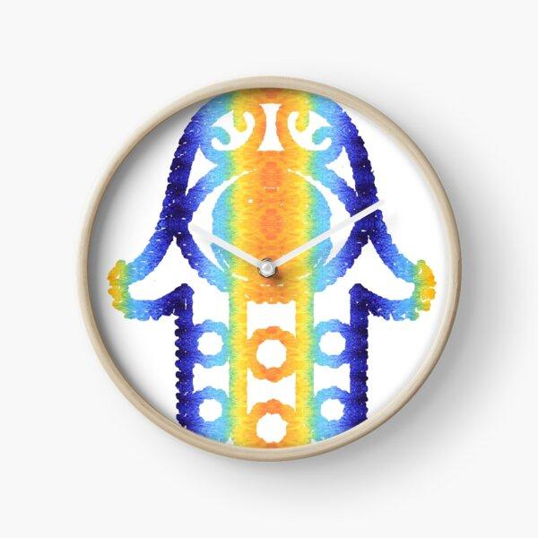 #creativity, #bright, #design, #art, decoration, color image, retro style,  square, imagination Clock