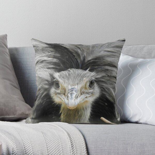 Greater Rhea, face-to-face Throw Pillow