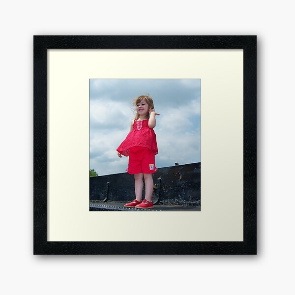 Windy Day Princess Framed Art Print