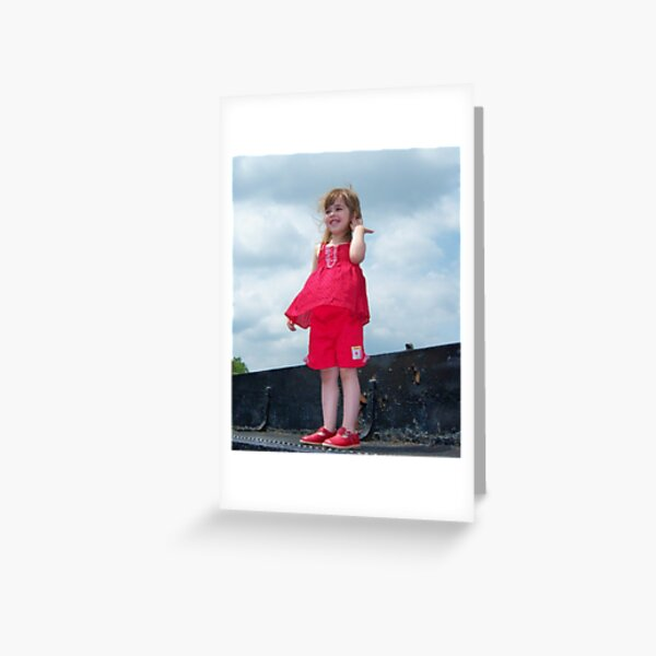 Windy Day Princess Greeting Card