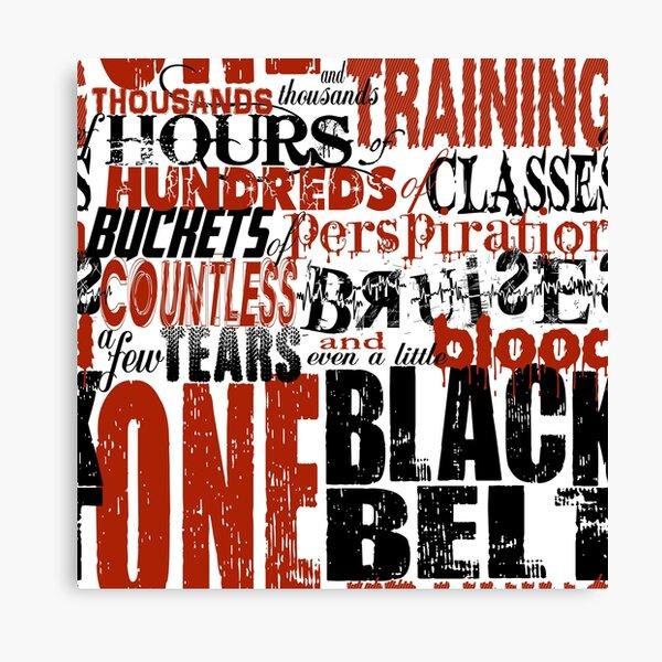 One Black Belt Canvas Print