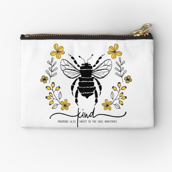 Bee Kind P1624 Zipper Pouch