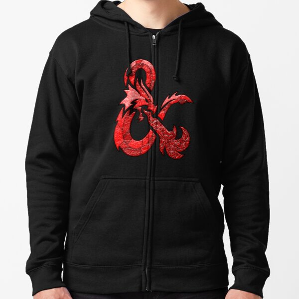 D&D Stained Glass Logo - Original Red Zipped Hoodie