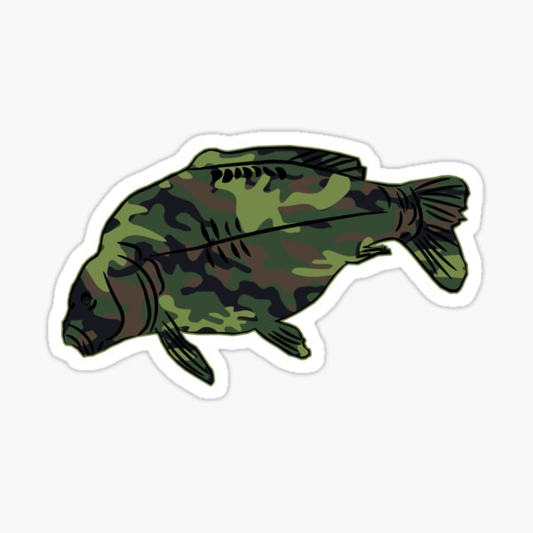 camo camouflage fishing sticker catfish cat fish pole rod reel lure hooks decal