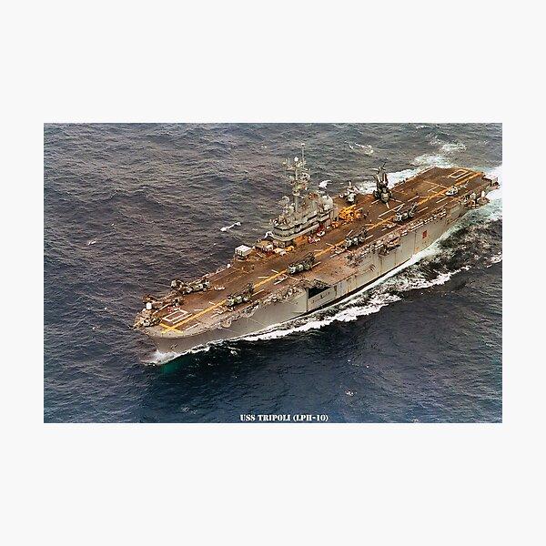 USS TRIPOLI (LPH-10) Photographic Print