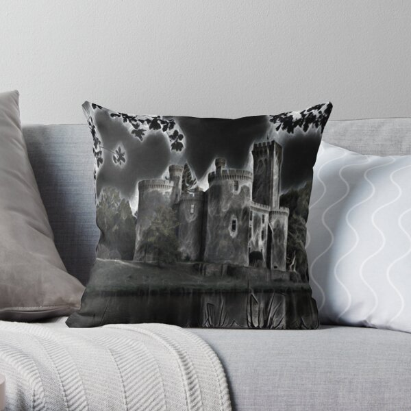 Medieval Castles around  the World Throw Pillow