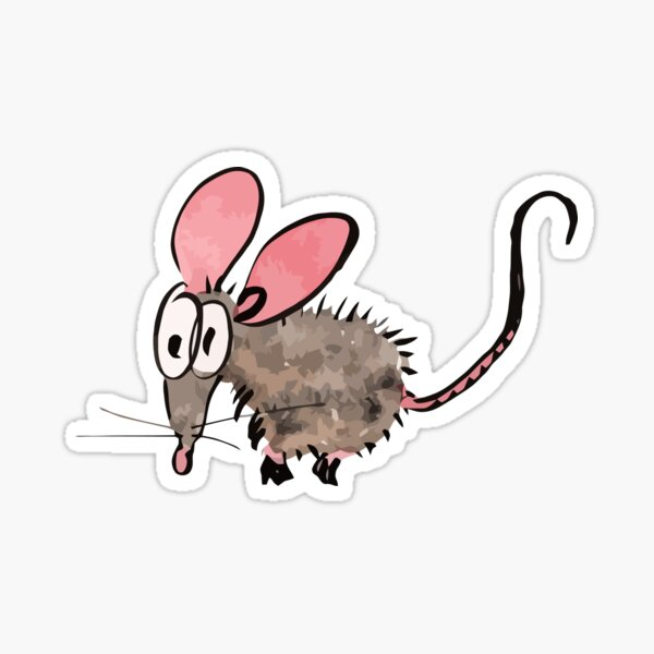 Scared Mouse Sticker