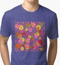 Flower Power on Black Tri-blend T-Shirt
