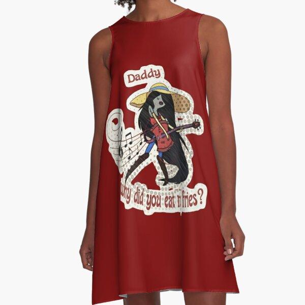 Eat my Fries- Marceline the Vampire Queen A-Line Dress
