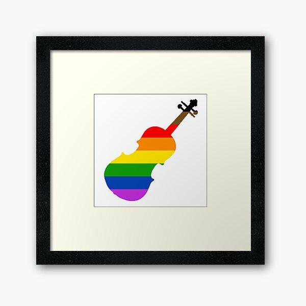 Rainbow Violin/Viola Framed Art Print