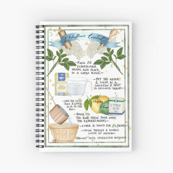 Elderflower Cordial Illustrated Recipe  Spiral Notebook