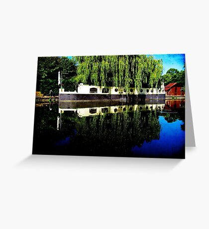 Canal Boat Greeting Card