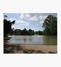 Sandbank at Nature Park Lake Photographic Print