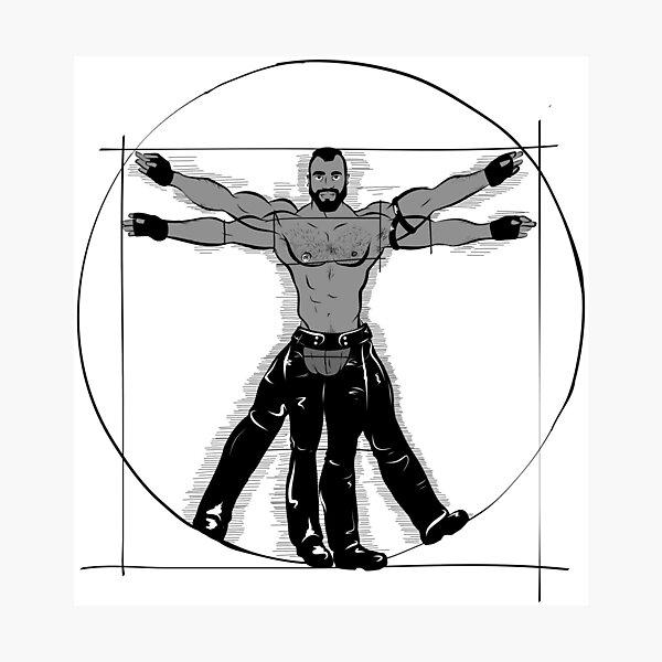 Gay Vitruvian Man Photographic Print