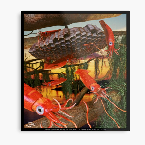 Ocean Invasion #8: Tending the Squid Hive Metal Print