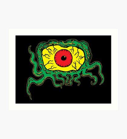 Crawling Eye Monster Lámina artística