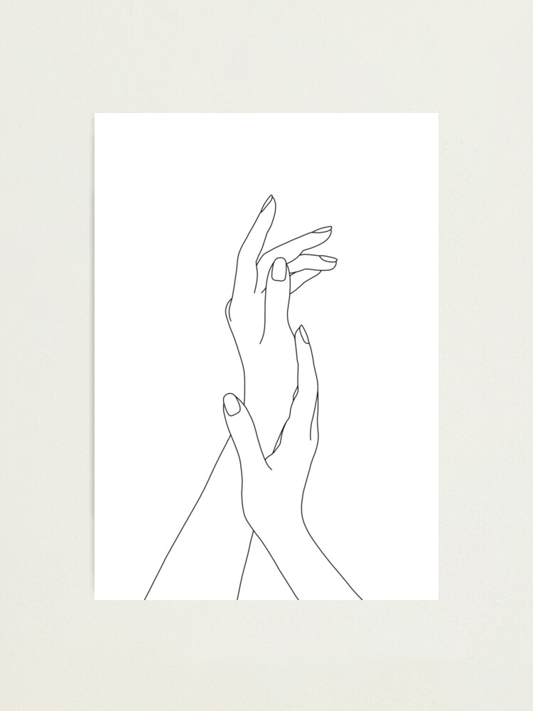Alternate view of Hands line drawing - Dia Photographic Print