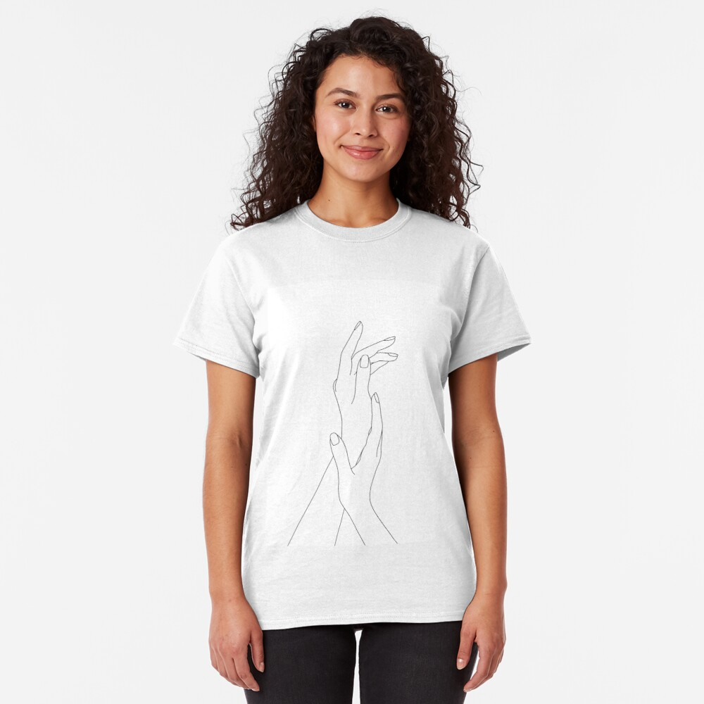 Hands line drawing - Dia Classic T-Shirt