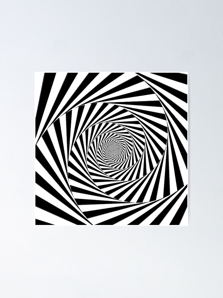 Alternate view of #Op art, #Art movement, #Optical #illusion Poster
