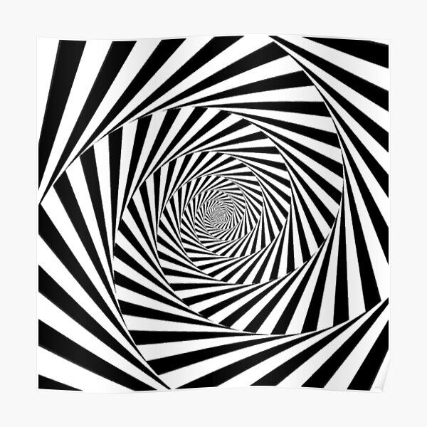 #Op art, #Art movement, #Optical #illusion Poster